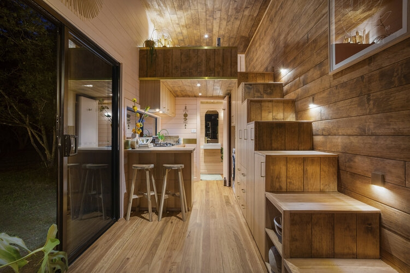 High End Tiny House With Timber Exterior is up For Grabs