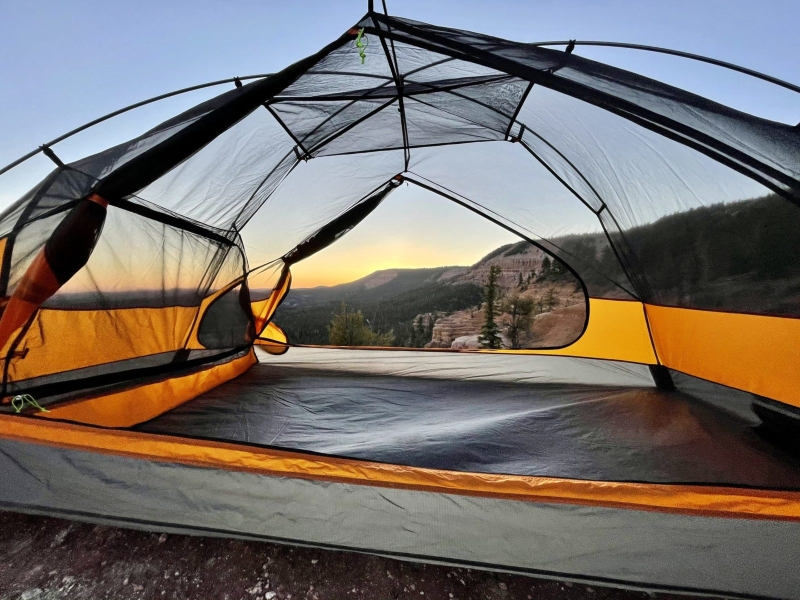 King Peak Tent makes camping fun with separate compartment for your pooch.
