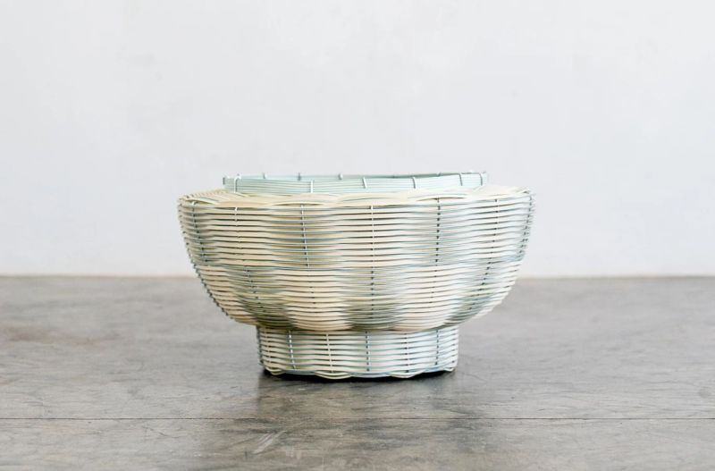 Mo's Crib Makes Unique Woven Baskets from Recycled PVC