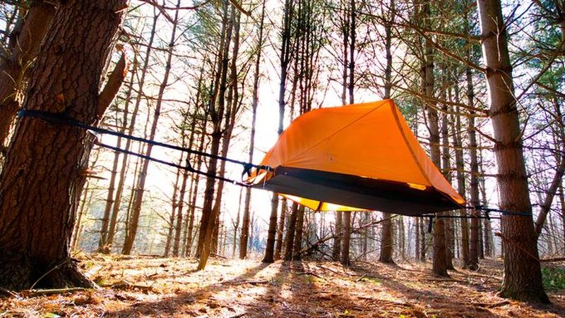 Opeongo's AERIAL A1 Tree Tent Sets Canopy Above the Ground