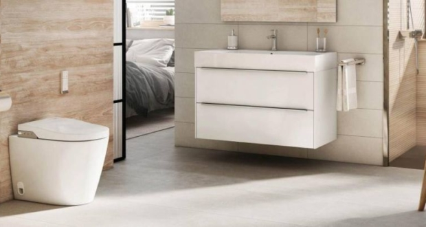 Roca's New In-Wash with In-Tank Toilet Saves Space, Looks Elegant