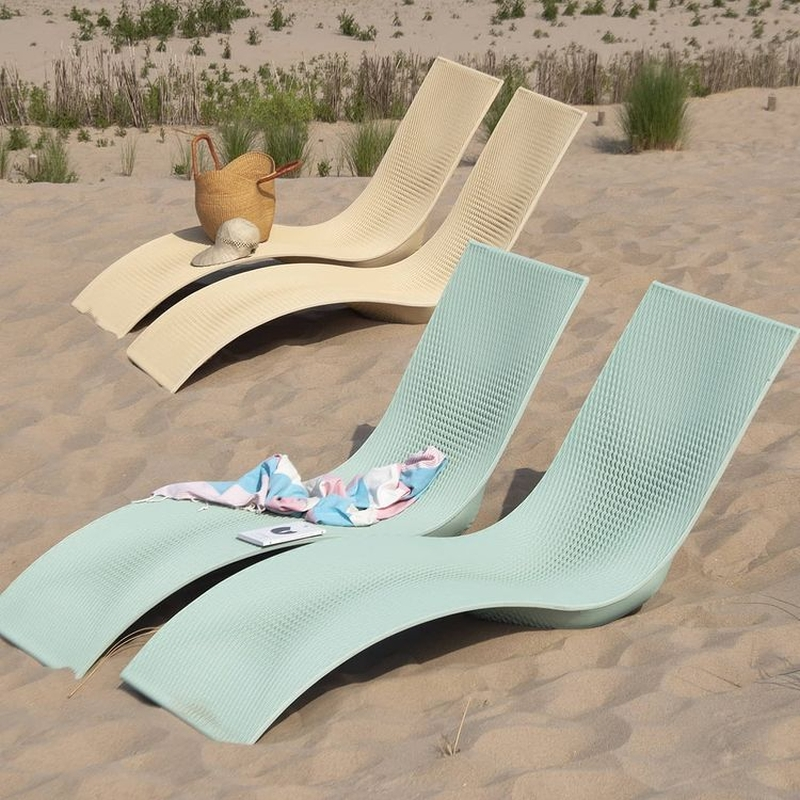 3D Printed Beach Furniture Crafted From Marine Plastic Waste