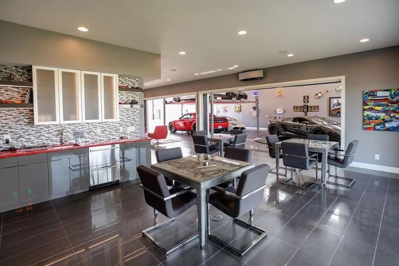 This Family Home with Turntable Car Display is Up for Sale