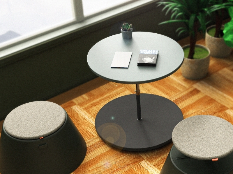 This Portable Chair Table Combo is Made up of Fiberglass