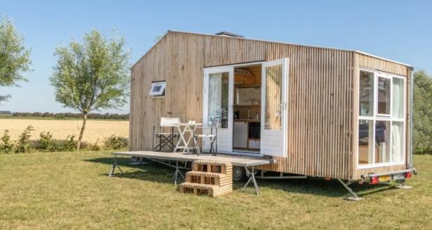This Tiny House Rental Made From Flax and Straw is Available on AirbnB