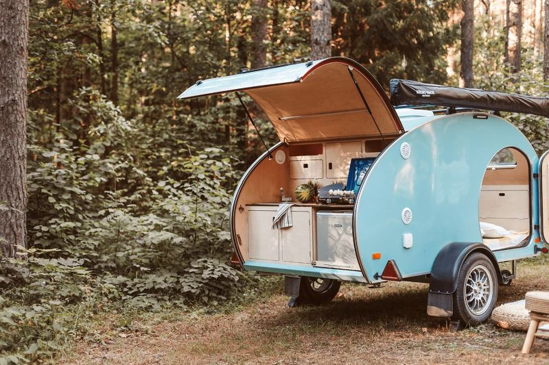 TinyCamper's MINI is a Compact Teardrop Trailer with Modern Features