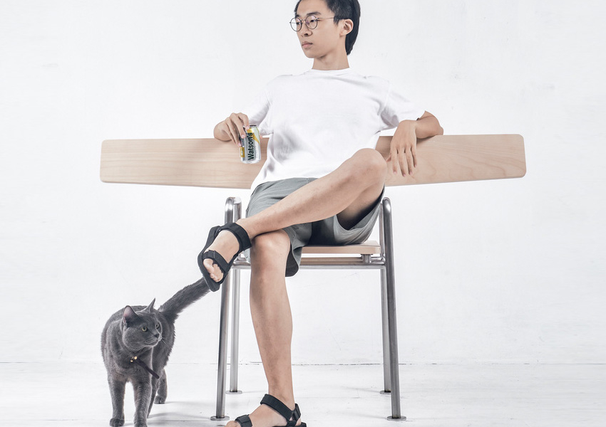 Park Bench-Inspired Chair by Ng Hoi