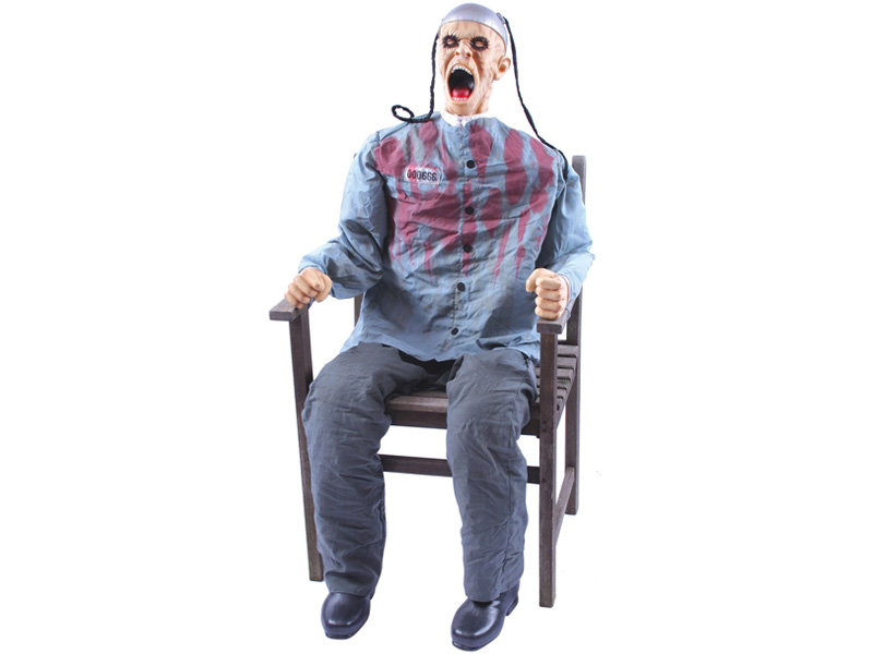 This Motion Sensor 5 ft Animated Death Row Dummy is the New Halloween Horror