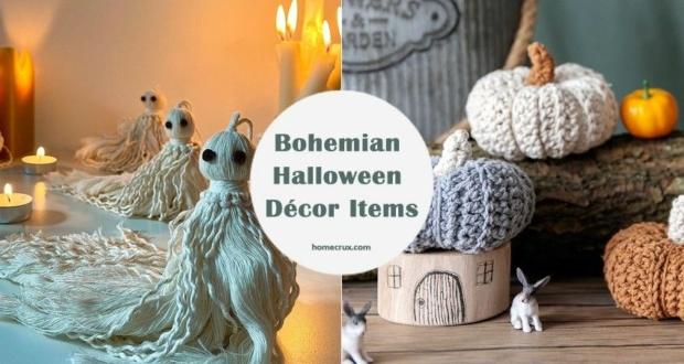 Bohemian Halloween décor items at Etsy